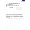 A&D Instrument Decontamination Form